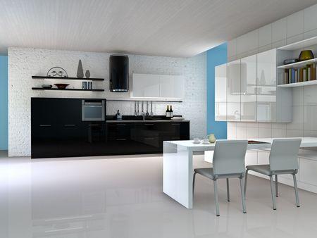kitchen interior Archivio Fotografico