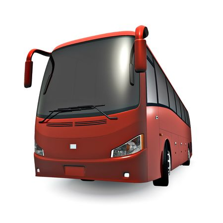 3D tour bus isolated on white. No trademarks Stock Photo - 6383670