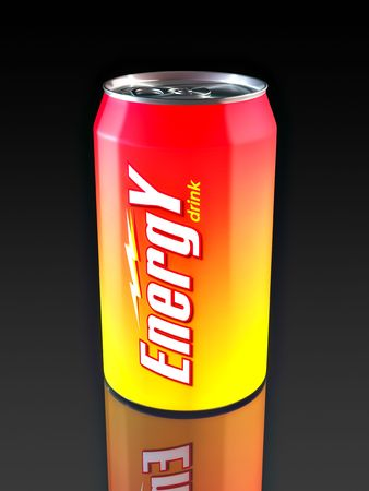 Aluminum Energy Drink Can. Made in 3D.