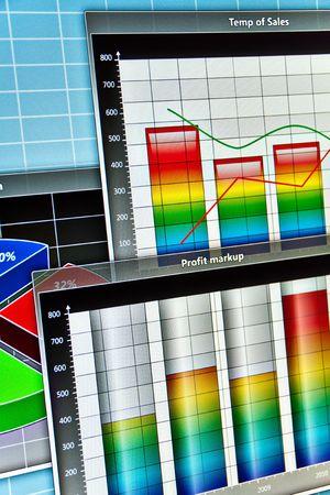 screenshot: Screenshot of abstract business diagrams. Stock Photo