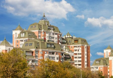 Hi-rise apartment building on Moscow street Stock Photo - 7881328