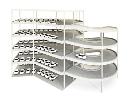 3d illustration of multilevel parking garage. Stock Illustration - 8345559