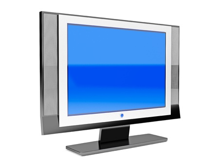 3d illustration of isolated high end flat LCD television Stock Illustration - 8431465