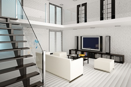 3d illustration of modern living room interior