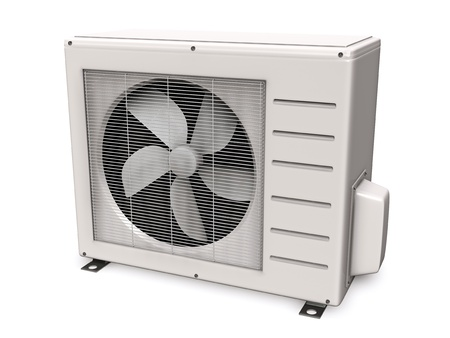 3d illustration of air conditioner, isolated on white