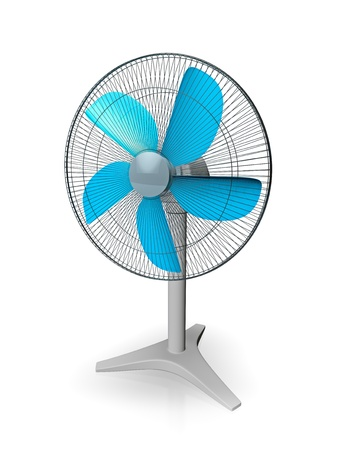 3d illustration of table fan, isolated on white