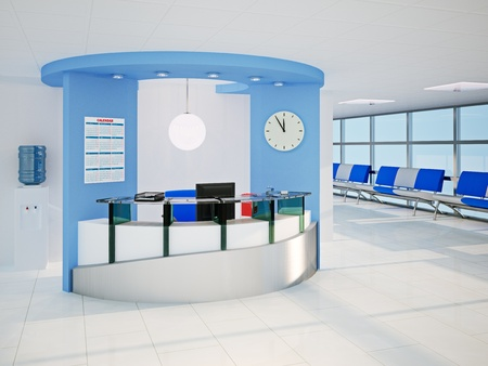 3d illustration of the modern office room illustration