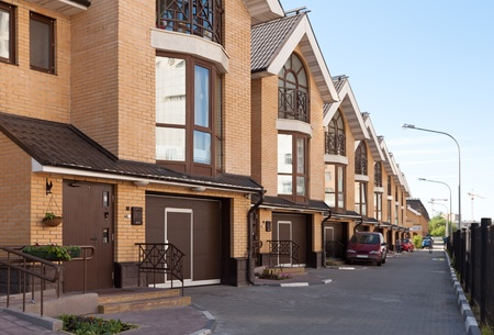 New urban residential housing on the Moscow street Stock Photo - 9772652