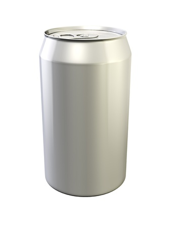fizzy: 3d illustration of drink can on white background