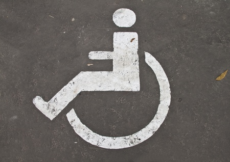 Parking space reserved for disabled persons photo