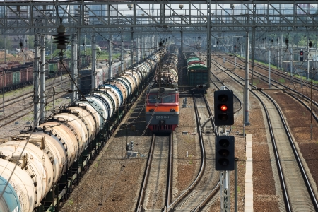 Sorting railway junction on the outskirts of Moscow