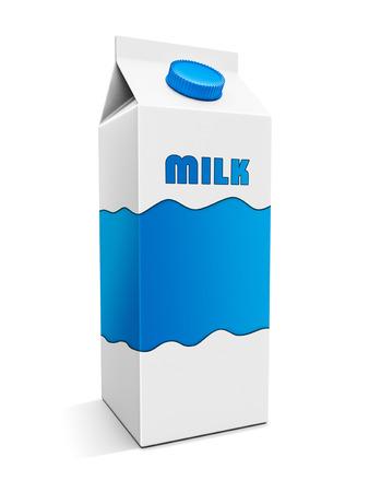 caja de leche: Caja de leche con diseño personalizado en blanco.