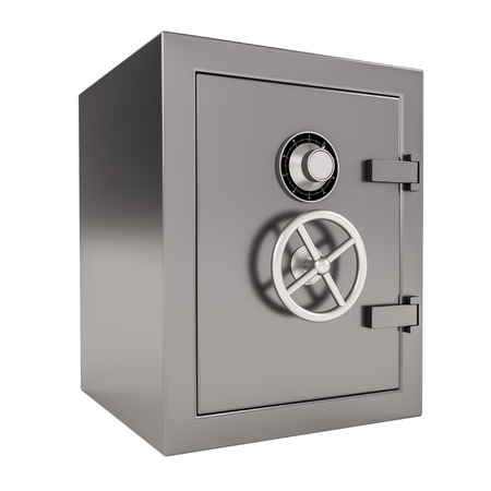 3d illustration of closed Bank safe on white. illustration