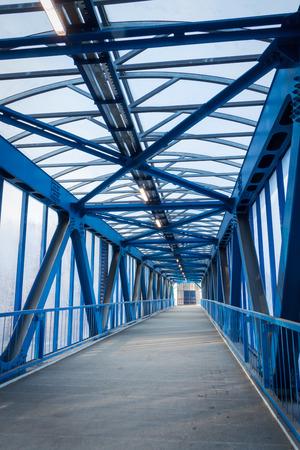 pedestrian bridge over the highway