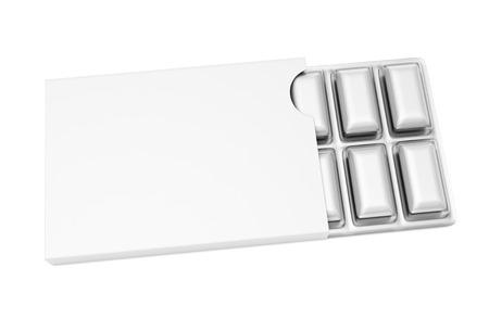 goma de mascar: 3d ilustraci�n de la goma de mascar en el fondo blanco