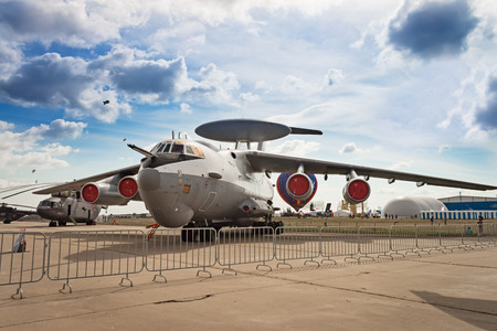 aircraft: Russian reconnaissance aircraft at the Moscow Air Show Editorial