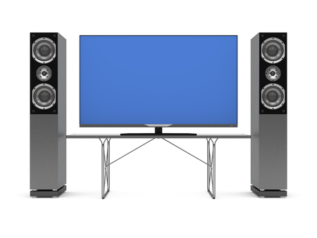 home theater: 3d illustration of home theater on white background