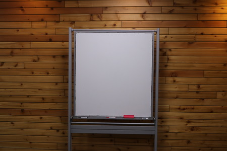 interior spaces: white screen in conference room