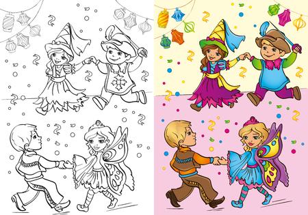 Ilustración Del Vector Del Niño En Traje De Pirata Con El Sable Y El ...