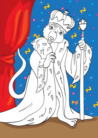 Mouse King Vector Illustration Of From Fairy Tale Nutcracker For Coloring Page