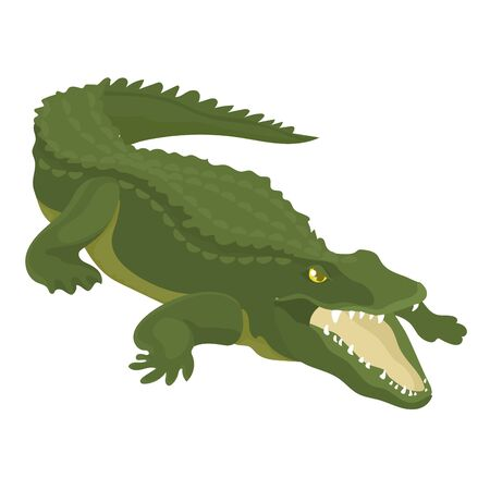 Vector Illustration Of Crocodile With Open Mouth