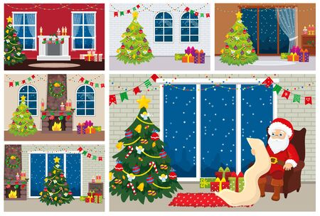 Set Design Interior Rooms With Christmas Tree