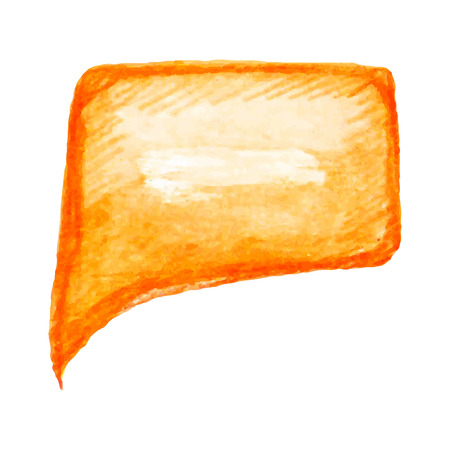 memorandum: Orange watercolor vector speech bubble
