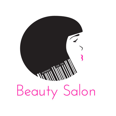 hair saloon: Beauty Salon logo template, hairdresser emblem, cosmetic shop vector design brand. Isolated on white. Illustration