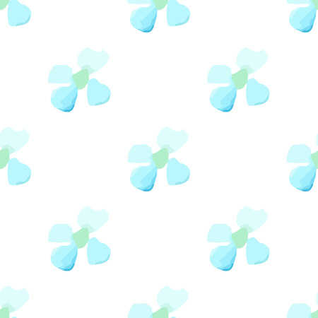 field of daisies: Watercolor white flower seamless vector pattern light background. Small blue daisies summer, daisy field