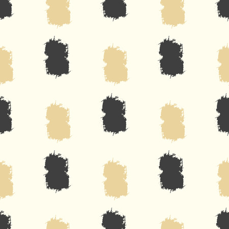 grunge pattern: Seamless grunge pattern. Brush strokes hand drawn texture. Black and gold touch smears
