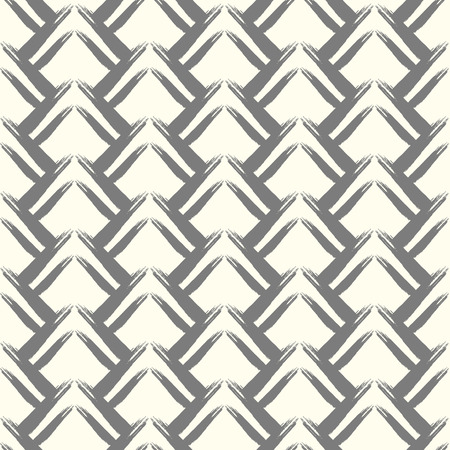grunge pattern: Seamless grunge pattern. Brush strokes hand drawn texture. Ink spike grey smears Illustration