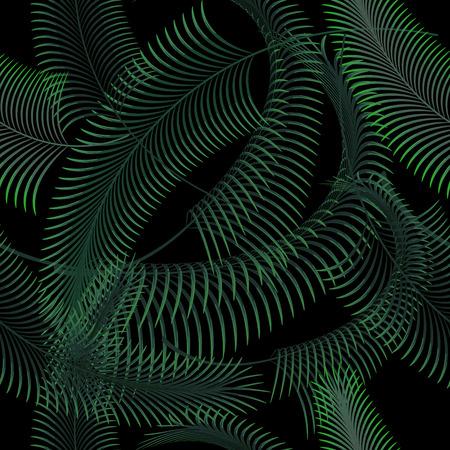 seamless pattern: Palm leaves seamless pattern