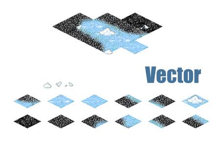 sprite: Pixel art sprite tiles for game background