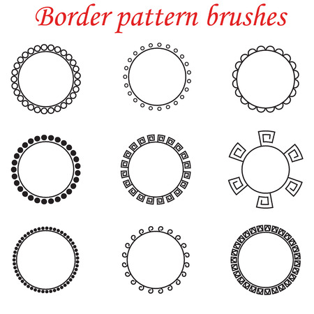 rapport: Pattern brushes for borders, dividers and frames. Illustration