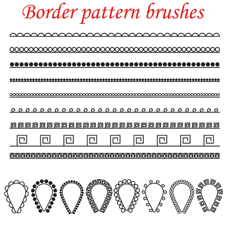 side border: Pattern brushes for borders, dividers and frames.