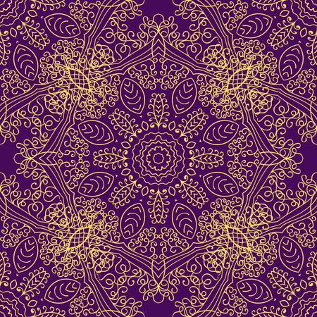 Mandala swirl seamless background Illustration