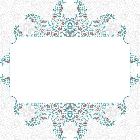 swirl: Floral swirl invitation blue card template design