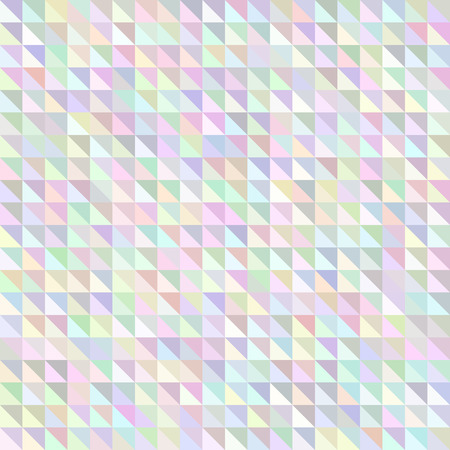 versicolor: Holographic triangle geometric pattern. Iridescent pearl effect vector background.