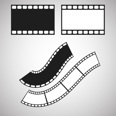 saved: Film stripe pattern brush. Blank celluloid. Illustrator art brush saved in panel.