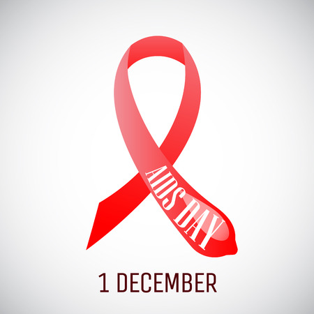 protect concept: Aids ribbon awareness day symbol. Condom protect concept.