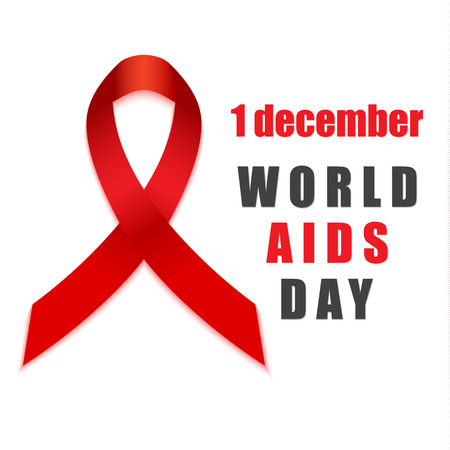 hiv awareness: Aids hiv december day red ribbon awareness symbol. Vectores