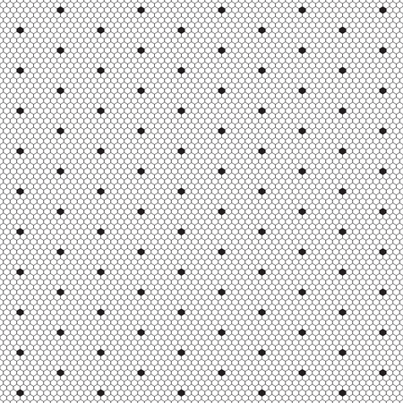 hosiery: Dot lace seamless pattern net. Black cell textile openwork knit. Beads on hosiery knit. Polka dot in a row on reticulate textile.