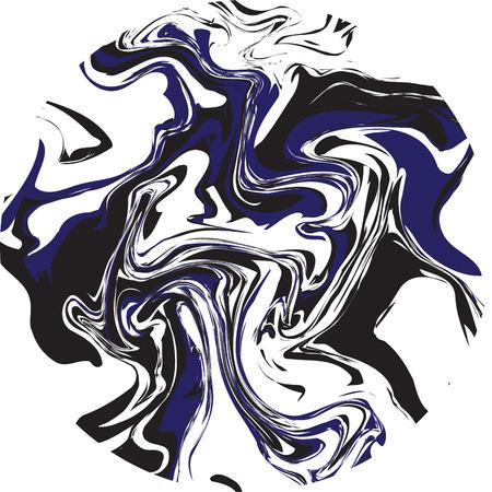 canicas: Mármol textura vector resumen de antecedentes. ágata líquido desordenado diseño redondo de colores negro, blanco y azul.