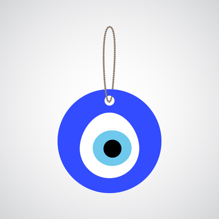evil eye: Turkish amulet - Nazar, believed to protect against the evil eye. Eye bead icon. Illustration