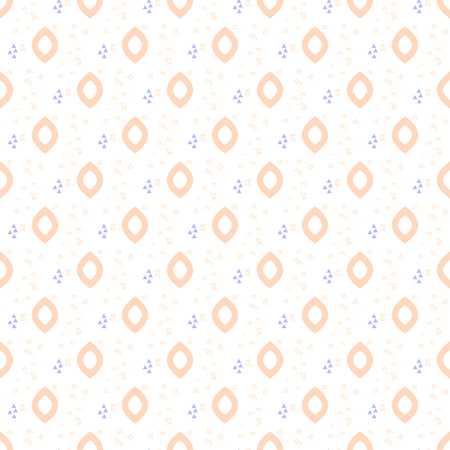 fine print: Oval drops tender seamless pattern. Fine textile print design.