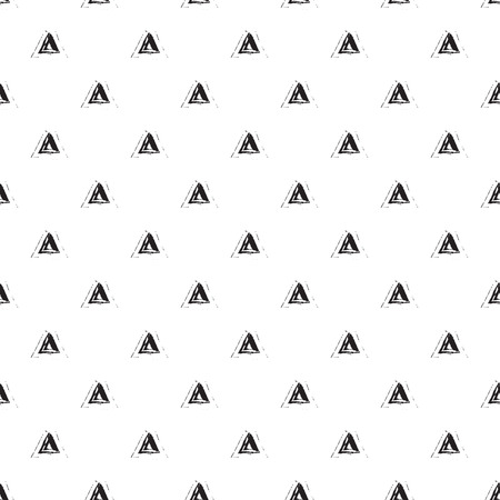 unobtrusive: Brush stroke seamless vector pattern. Black and white abstract geometric brushed triangles background. Illustration