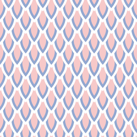 trichromatic: Rose quartz and serenity violet scale vector geometric seamless pattern. Classic simple style.