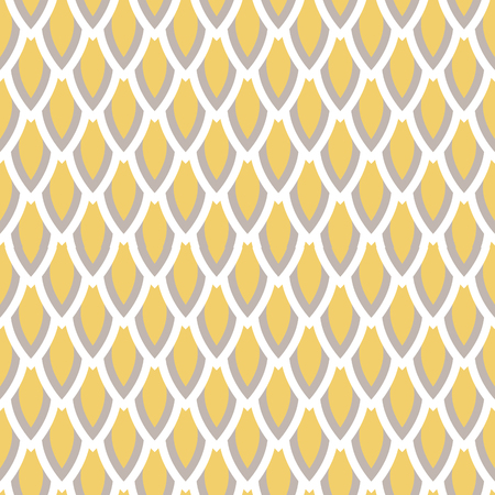 trichromatic: Mustard yellow and taupe scale vector geometric seamless pattern. Classic simple style.