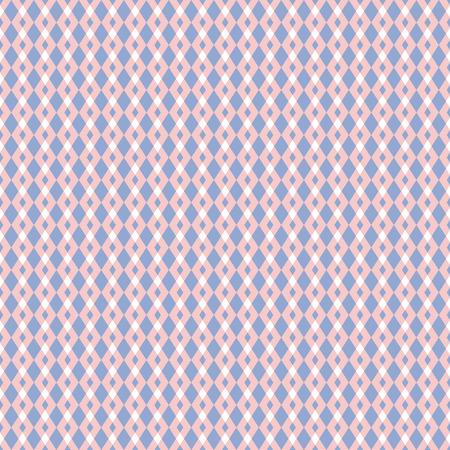rose quartz: Rose quartz and serenity violet vector geometric seamless pattern. Classic simple rhombus style. Illustration