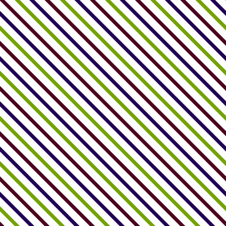 bias: Diagonal stripe seamless pattern. Geometric violet and green classic line background. Illustration